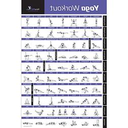 newme fitness yoga pose exercise poster laminated
